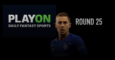 PlayON EPL DFS Preview – Round 25